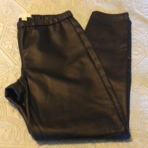Michael Kors Faux Leather Black Pants NWOT